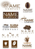 Coffee cafe company logos Stock Photos