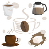 Coffee cafe cup brown illustration. Coffee cafe cup sugar brown illustration Stock Photo