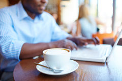 Coffee in cafe Royalty Free Stock Images