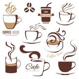 Coffee and cafe lofo templates Stock Photos
