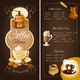 Coffee cafe menu Stock Image