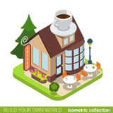 Coffee cafe restaurant building realty real estate Stock Images