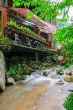 Coffee cafe on stream at Mae Kampong, Chiang Mai, Thailand Stock Photo