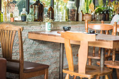 Coffee cafe with table and chairs Stock Images