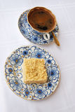 Coffee and cake. Morning with coffee and cake Royalty Free Stock Images