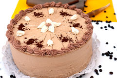 Coffee cake. Delicious coffee cake with chocolate Stock Image