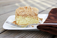 Coffee Cake. Classic coffee cake with crumb topping royalty free stock photo