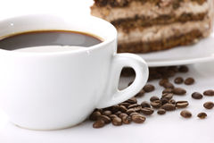 Coffee and cake Royalty Free Stock Image