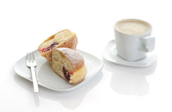 Coffee with cake Stock Images