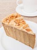 Coffee cake with almond Stock Photos