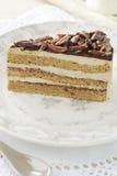 Coffee cake with almonds stock photos