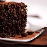 Coffee cake with chocolate Stock Photos