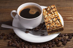 Coffee with cake Royalty Free Stock Images