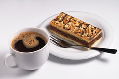 Coffee with cake Stock Photography