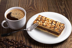 Coffee with cake Royalty Free Stock Photography