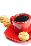 Coffee and cake nut Royalty Free Stock Photography