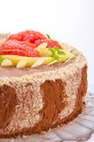 A Coffee cake with pear and Grapefruit Royalty Free Stock Photo