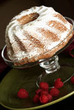 Coffee cake with raspberries Stock Images