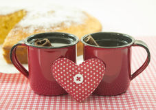 Coffee and cake Stock Image