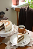 Coffee cake, rustic style, selective focus. Stock Images