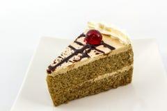 Coffee cake slice. Coffee cake slice on white background stock image