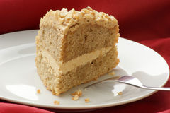 coffee cake with some nuts Royalty Free Stock Image