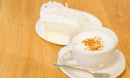 Coffee and cake. In vintage mood Royalty Free Stock Images