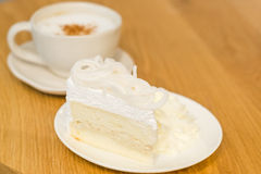 Coffee and cake. In vintage mood Royalty Free Stock Image