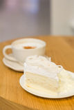 Coffee and cake. In vintage mood Royalty Free Stock Photos
