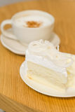 Coffee and cake. In vintage mood Stock Photos