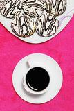 Coffee and cakes Stock Images