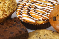 Coffee cakes Stock Image