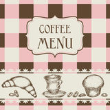Coffee and cakes menu Royalty Free Stock Photo