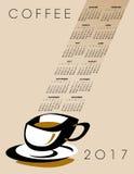 2017 coffee calendar Stock Images