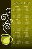 2017 coffee calendar Royalty Free Stock Photo