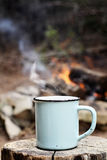 Coffee by a Campfire Stock Photography
