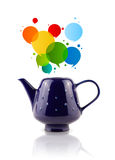 Coffee can with colorful abstract speech bubble Royalty Free Stock Image