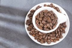 Roasted and ground coffee - Coffea. Coffee can help prevent some diseases and contribute to keep in shape the memory and increase the physical and mental Stock Image
