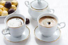 Coffee and candies Royalty Free Stock Images