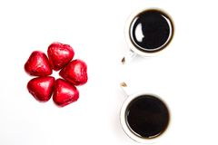 Coffee and candies Royalty Free Stock Image