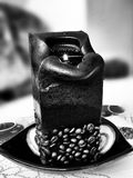 Coffee candle. Artistic look in black and white. Stock Image