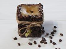 Coffee candle handmade Royalty Free Stock Photo