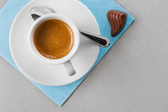 Coffee and candy Stock Image