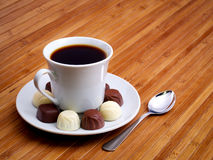 Coffee and candy Royalty Free Stock Images