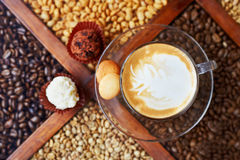 Coffee candys cookes Royalty Free Stock Images