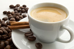 Coffee and canella Stock Photos