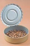 Coffee cans stock photos