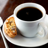 Coffee with cantuccini Stock Image
