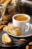 Coffee with cantuccini royalty free stock image