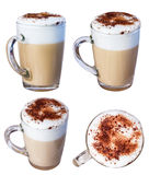 Coffee cappuccino chocolate chip and cinnamon, isolate on a whit Royalty Free Stock Photos